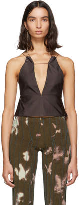 H&M Helenamanzano SSENSE Exclusive Reversible Brown and Green Tank Top