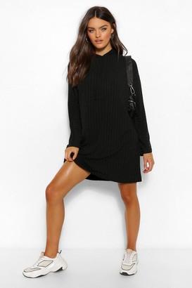 boohoo Recycled Rin Hooded Sweatshirt Dress