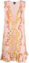 Just Cavalli geometric flared dress