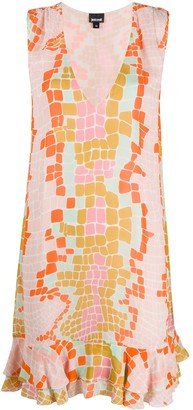 Just Cavalli Geometric Flared Dress