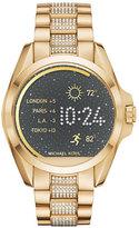 Michael Kors Bradshaw Golden Display Smartwatch with Crystals