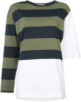 Hache striped panel sweater