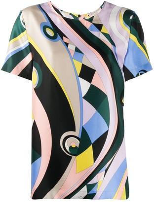 Emilio Pucci Occhi print silk top