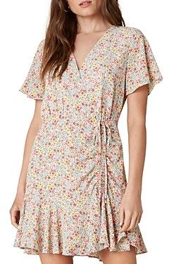 BB Dakota Flower On Printed Wrap Dress