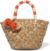 Kayu St Tropez Mini Pompom-embellished Woven Straw Tote - Beige