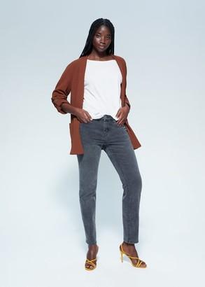 MANGO Violeta BY Pocket textured jacket brown - S - Plus sizes