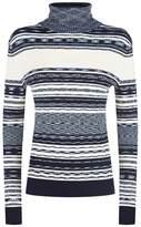 Tory Burch Julie Stripe Turtleneck Sweater