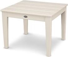 Polywood Newport Plastic Side Table Color: Sand