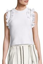 3.1 Phillip Lim Solid Ruffled Sport Tank Top