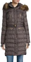 Vince Camuto Faux Fur-Trim Hooded Jacket
