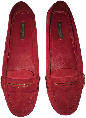 Louis Vuitton Upper Case Burgundy Suede Flats