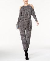 MICHAEL Michael Kors Printed Cold-Shoulder Jumpsuit