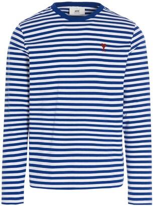 Ami Striped Long-Sleeve T-Shirt