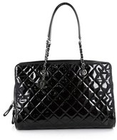 Chanel Pre-owned: Cc Angle Tote Quilted Patent Large.