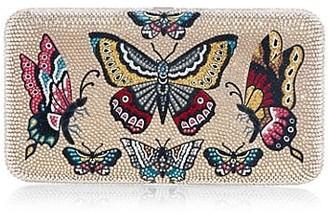 Judith Leiber Smooth Swarovski Crystal Embellished Rectangle Flutter Clutch