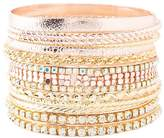 Charlotte Russe Rhinestone & Etched Metal Bangle Bracelets - 9 Pack
