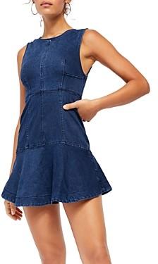 Free People Alex Denim Mini Dress