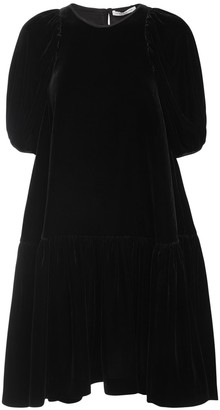 Cecilie Bahnsen Alexa Velvet Mini Dress