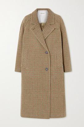 ANDERSSON BELL Ingrid Houndstooth Cotton-tweed Coat - Beige