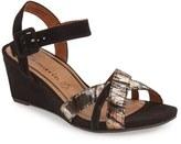 Tamaris Women's 'Inex' Quarter Strap Wedge Sandal
