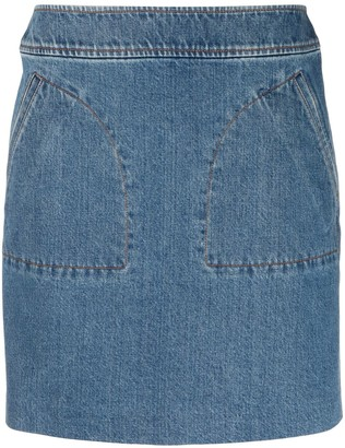 A.P.C. Pull-On Straight Denim Skirt