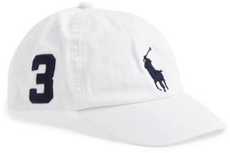 Ralph Lauren Kids Big Polo Pony Cap (2-4 years)