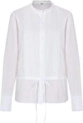 0039 Italy White Malisa Blouse - m   cotton   white - White/White