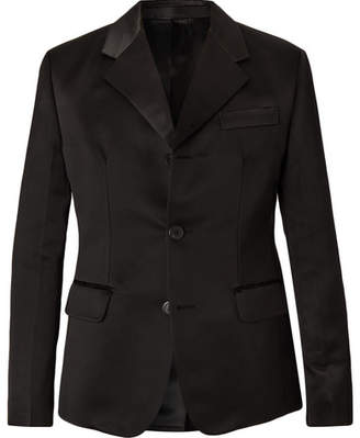 Prada Black Silk-Satin Suit Jacket