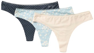Jessica Simpson Lace Trim Thong - Pack of 3