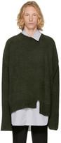 Wooyoungmi Green Asymmetric Sweater