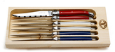 Jean Dubost Le Thiers 6 Steak Knives Paris Colors in Open Box