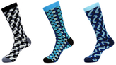 Jared Lang Dots and Zigzag Socks (3 PK)