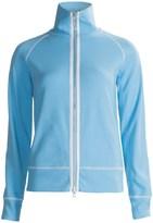 Joan Vass Contrast Trim Jacket - Stretch Cotton (For Women)