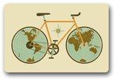 Hot Sale Special Design Retro Bicycle Durable Non-Woven Fabric Top Indoor/Outdoor Doormats