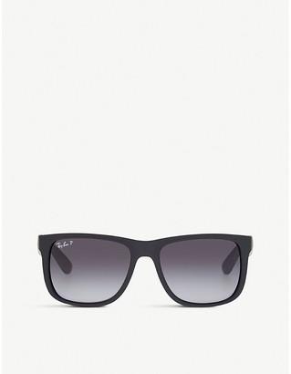Ray-Ban Mens Black Rubber Square Polarised Sunglasses