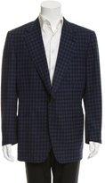 Tom Ford Checkered Print Two-Button Blazer