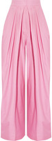 Vika Gazinskaya Pleated Cotton Tapered Pants - Baby pink