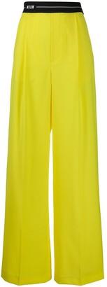MSGM logo-waist tailored trousers