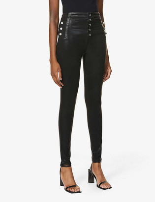 J Brand x Halpern Natasha skinny high-rise stretch-denim jeans