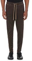 Robert Geller Men's Cotton-Modal Drawstring-Waist Pants-TAN