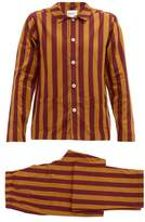 Nufferton - Uno Striped Cotton Pyjamas - Mens - Yellow Multi