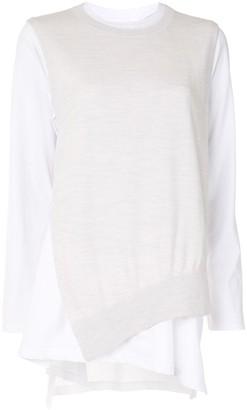 Enfold Long-Sleeved Asymmetric Sweater