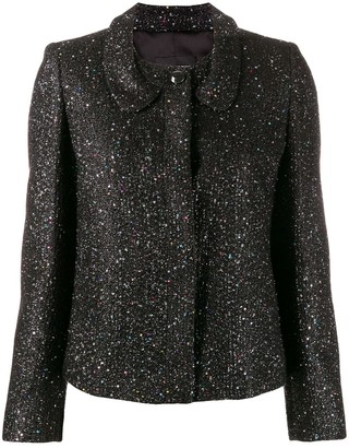 Emporio Armani Glitter Fitted Jacket