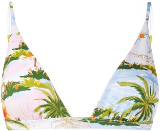 MC2 Saint Barth Tropical Print Bikini Top