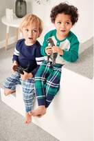 Boys Next Multi Check Woven Pyjamas Two Pack (9mths-8yrs)
