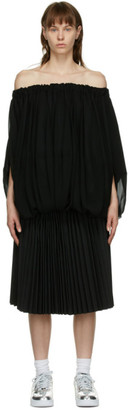 Comme des Garcons Black Pleated Layered Dress