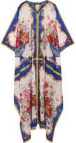Dolce & Gabbana Printed Cotton And Silk-blend Kaftan - White