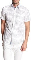 Report Collection Short Sleeve Circle and Square Print Shirt