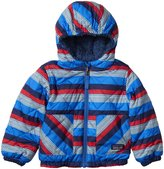 Patagonia Reversible Tribbles Jacket (Baby) - Mini Fitz Roy Stripe/Andes Blue-Newborn