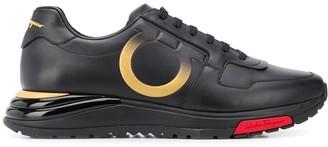 Salvatore Ferragamo Gancio embossed sneakers
